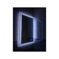 Зеркало в ванную комнату с подсветкой светодиодной лентой Эвелин