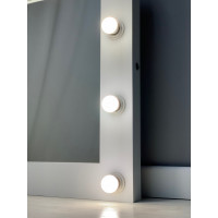Белое настенные гримерное зеркало с подсветкой 75х75
