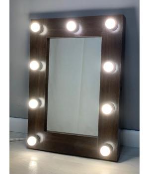 Зеркало гримера с подсветкой 70х50 см 9 ламп