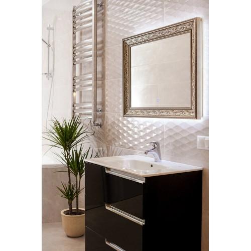 Зеркало в ванную комнату с подсветкой светодиодной лентой Арианна